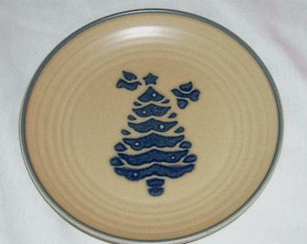"""Pfaltzgraff Folk Art Christmas Tree Dish 6 3/4"""""""