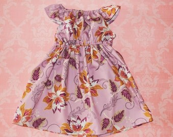 ON SALE! Purple Floral nelle, size 12mos.-8 girls