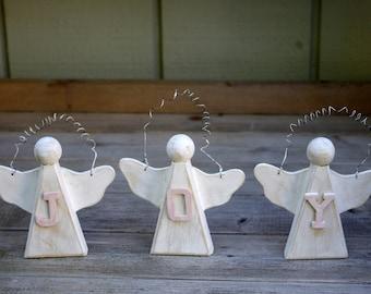 Shabby Angel Joy Ornaments