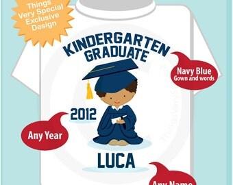 Personalized Kindergarten Graduate Shirt Kindergarten Graduation Shirt Child's Back To School Shirt (05222012d)
