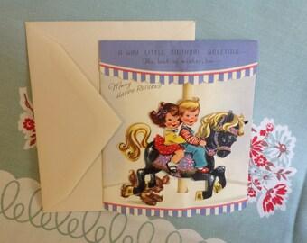 Vintage Birthday Greeting Card Unused with Envelope