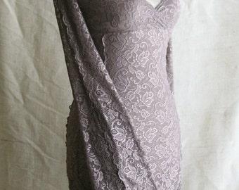 dusty lilac grey lace dress MOONALIA faerie bohemian gypsy