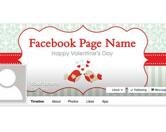 SALE 30% OFF Valentine's Day Facebook Timeline Cover - PS1