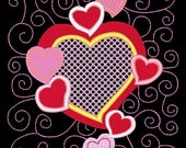 SWEETHEARTS #4- 1 Machine Embroidery Design Instant Download 4x4 5x7 6x10 hoop (AzEB)