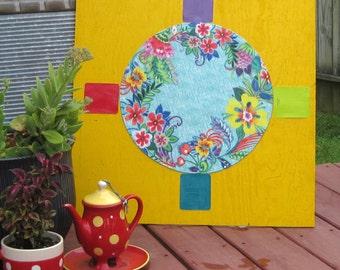 OUTDOOR ART WATERPROOF Flower Sundial  24 x 24 inches