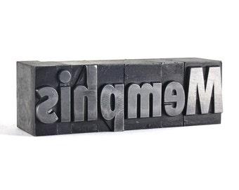 MEMPHIS - 72pt Vintage Metal Letterpress