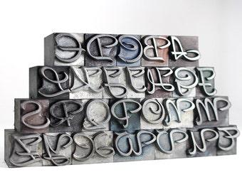 THE ALPHABET - 36pt Metal Letterpress (Rondo)