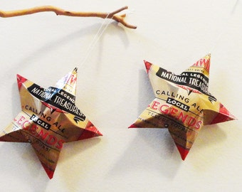 Cheerwine Legend Stars, Soda Can Upcycled, Christmas Ornaments
