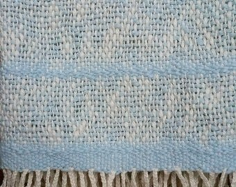 Organic Cotton Handwoven Baby Blanket - Morning Sky Blue