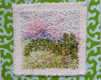 Psalm 121, Tiny Mixed-Media Tapestry