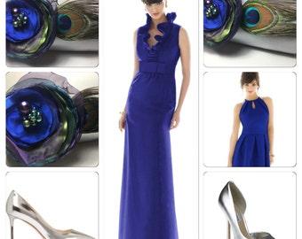 Silver Clutch | Royal Blue Bridesmaid | Silver Bridesmaid Clutch Purse | Evening Bag | Custom Clutch Purse | Personalized Clutch