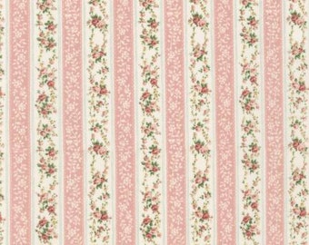Emma 2 Collection   by From Robert Kaufman Coral Floral Stripe   SRK6724143