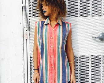 Vintage Striped Bright Shirt