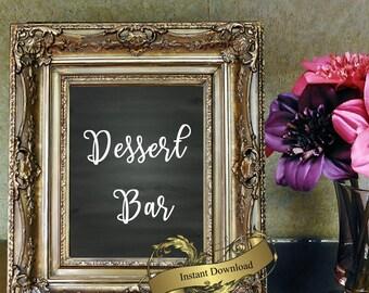 Wedding Dessert Bar sign  in 8x10  Digital download