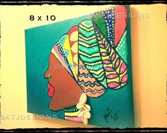 Woman in head wrap