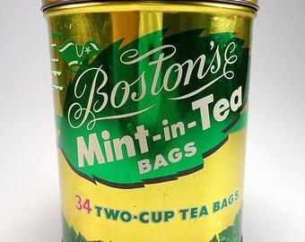 Boston's Mint in Tea Bags Tin, Housewares, Home Decor, Tinware  Collectibles