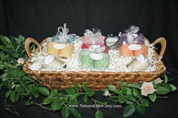 Candle Wedding Gift: Bridal Shower Basket Bridal Candle Basket Wedding By