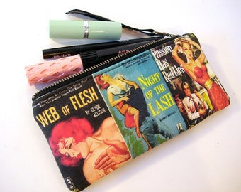 Pulp Fiction Book Covers Makeup Bag Zipper Pouch