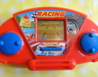 Vintage 1991 Tiger Electronics Hand Held Video Game - Car Racing