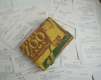1950s Vintage Bible Zoo Game by Bernis DeFrees Brien