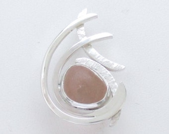 Sea Glass Jewelry - Sterling Rare Pink Sea Glass Pendant