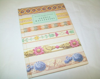 SALE - Victoria and Albert Museum Book, Ornate Wallpapers, 1986, decor
