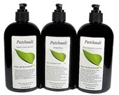 PATCHOULI Hair Conditioner, Shampoo, Lotion, Essential Oil, VEGAN, Paraben Free, Homemade, Natural, 8oz, 16oz, Black Pump