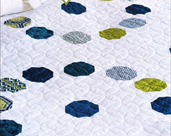 Gigi's Thimble, Marbles Quilt Pattern, Choose from four sizes! Easy to sew! Scrap and Fat Quarter friendly!