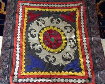 Vintage Hand Embroidered Suzani
