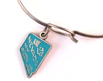 Nevada State Love Charm Bracelet or Necklace