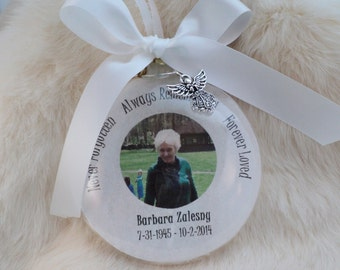 Memorial, Remembrance, Ornament, Never Forgotten, with FREE Charm