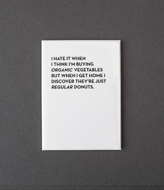 organic vegetables magnet. #954