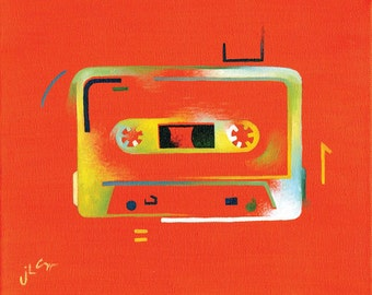 Ode to the Cassette Era 1 (original painting)