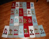 Santa Elf Initial  Towel  - CUSTOM ORDER ONLY