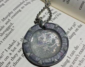 Stargate Inspired Gate Pendant Necklace