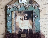 Mixed Media Home Sweet Home Vintage Style Assemblage
