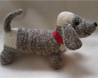 Mini DACHSHUND Weiner Dog Sock Monkey Dolls Puppy ~ VINTAGE MONKEY Socks