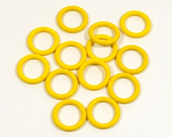 12mm Sunny Yellow Rubber O-Rings