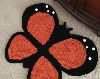 Crochet Butterfly Rug