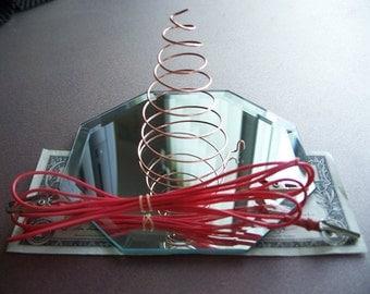 Spiral COPPER Coil  Clockwise ANTENNA for - Radionics, Wish Machines, Wish Box, Orgone, Crafts