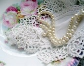 Doily, Needlework, Antique, Shabby Cottage, Shabby Chic, Romantic Home, by mailordervintage on etsy