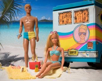 "LIMITED EDITION Malibu Barbie and Ken Fine Art Photograph 16"" x 20"""