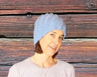 Knit Hat Pattern, Spiral Knit Hat Tutorial, Knitting Pattern for Spiral Knitted Hat, Medium Weight Yarn Hat Pattern, Hat Knit in Round