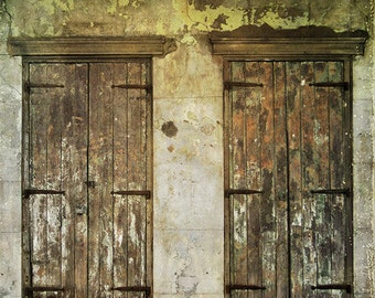 "New Orleans Photography, French Quarter Picture ""Two Doors"" Louisiana Print. Mardi Gras. Affordable Wall Art and Home Decor."
