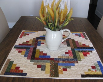 SALE Log Cabin Table Topper