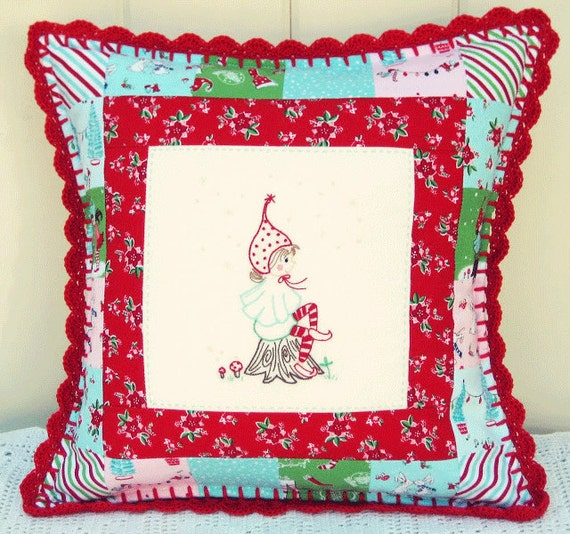 Sitting Little Pixie Embroidery Pattern - PDF - Tasha Noel
