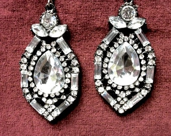 Statement  rhinestone earrings inspired by ROYALS
