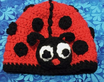 Lady Bug Crochet Hat