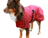 Winter Dog Coat, Tough Diamond Ripstop, custom made just for your dog with adjustable velcro closures