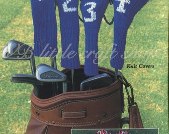Golf club covers knitting and crochet pattern. Instant PDF download!